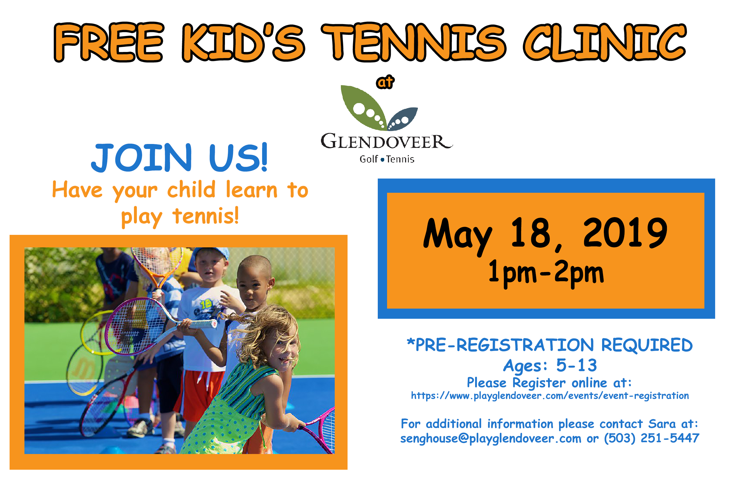 FREE TENNIS CLINIC MAY
